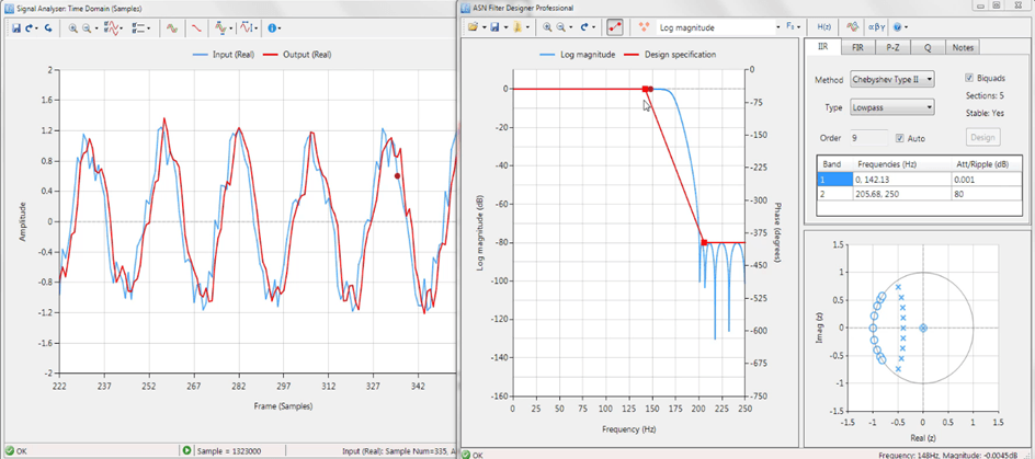 Signal Analyser at work