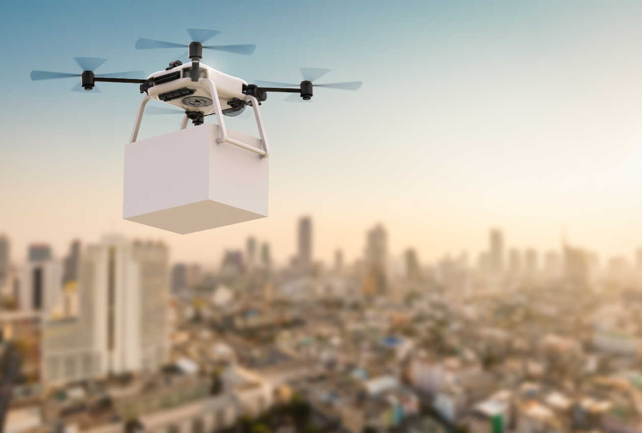 Drone delivery city iot