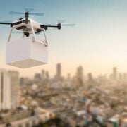 Drone delivery city sensors iot
