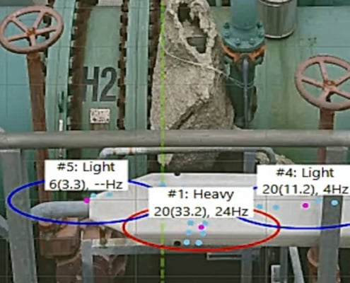 Vibro measuring pipelines