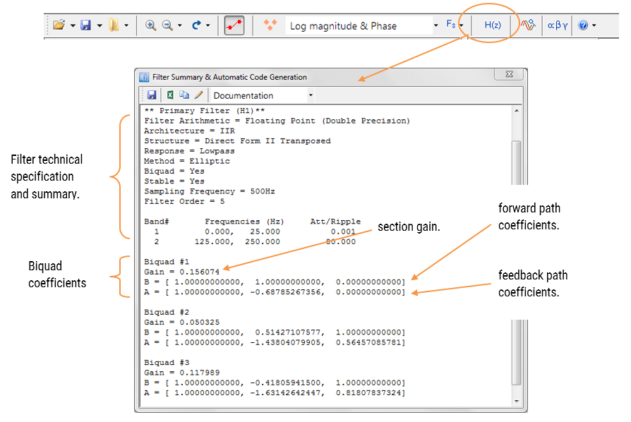 ASN Filter Designer: Filterzusammenfassung